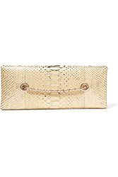 Tom Ford Python Clutch Gold