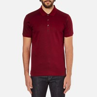 Hugo Men's Dinello Jacquard Polo Shirt Dark Red