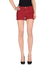 Jucca Denim Denim Shorts Women Maroon