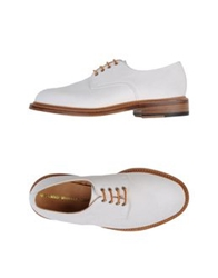 Woolrich Woolen Mills Lace Up Shoes White