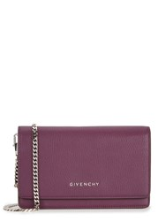Givenchy Pandora Purple Leather Wallet