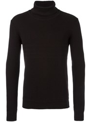 Paolo Pecora Ribbed Turtleneck Jumper Brown