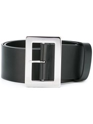 Jil Sander Rectangle Buckle Belt Black