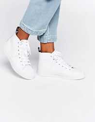 Fred Perry Ellesmere Mid Leather Trainers White