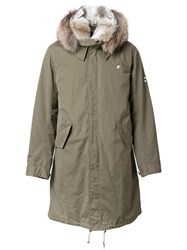 Loveless Fur Collar Parka Green