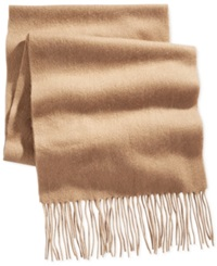 Club Room Solid Cashmere Scarf Only At Macy's Camel