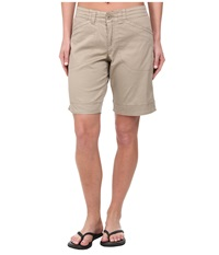 Woolrich Wood Dove Curved Short Khaki Women's Shorts