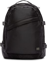 Porter Black Nylon Tanker Day Pack Backpack