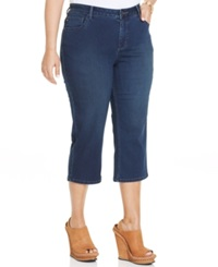 Lee Plus Size Cropped Jeans Sapphire Wash
