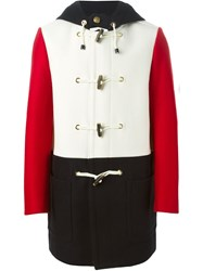 Ports 1961 Color Block Duffle Coat Red