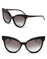 Wildfox Couture Wildfox Grand Dame Exaggerated Cat Eye Sunglasses Black Gray Gradient