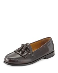Cole Haan Pinch Polished Leather Tassel Loafer Burgundy