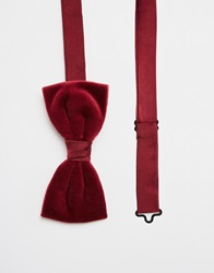 Noose And Monkey Velvet Bow Tie Red