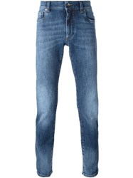 Dolce And Gabbana Straight Leg Jeans Blue