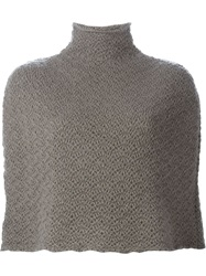 Eleventy Knitted Cape Grey