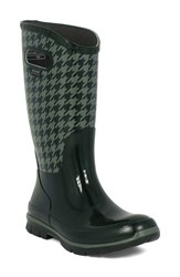 Bogs Women's 'Berkley Houndstooth' Waterproof Rain Boot Dark Green Multi