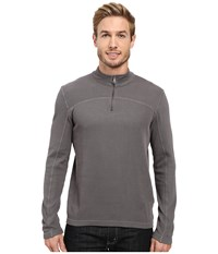 Agave Butte Long Sleeve Flatback Rib Eiffel Tower Men's Long Sleeve Pullover Gray