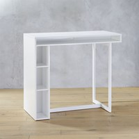 Cb2 Public White 42'' High Dining Table