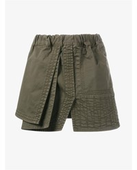 N 21 Cotton Army Skirt Army Green Black
