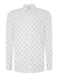 Peter Werth Keller Propeller Print Shirt White