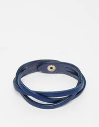 Jack Wills Leather Bracelet Blue