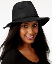 Nine West Felt Rancher Hat Black