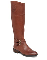 Vince Camuto Pyran Two Tone Leather Riding Boots Medium Brown