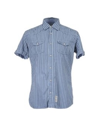 Fred Mello Short Sleeve Shirts Blue