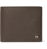 Tom Ford Full Grain Leather Billfold Wallet Brown