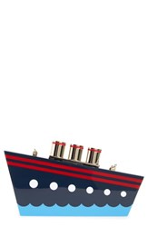 Kate Spade New York 'Expand Your Horizons' Steamer Ship Clutch White White Multi