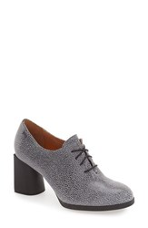 Camper Women's 'Lea' Oxford Pump Shiny Grey Leather