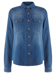 Warehouse Denim Western Shirt Dark Wash