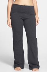 Hard Tail Hardtail Plus Rollover Waistband Pant Dark Charcoal