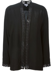 Lala Berlin Lace Insert Blouse Black
