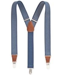 Club Room Men's Nautical Suspenders Only At Macy's Navy White