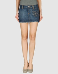 Sundek Denim Skirts Blue