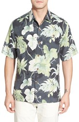 Men's Tommy Bahama 'Greenway Grove' Original Fit Floral Print Silk Camp Shirt