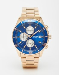 Sekonda Watch In Rose Gold Stainless Steel Gold
