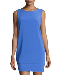 Laundry By Shelli Segal Cutout Back Sleeveless Sheath Dress Dazzling Blue