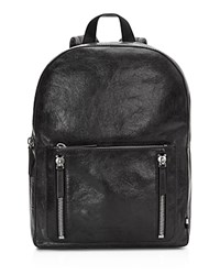 Uri Minkoff Distressed Leather Bondi Backpack Black