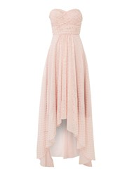 Studio 75 Strapless Sweetheart Neck Maxi Dress Pink