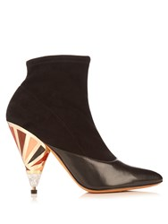 Givenchy Cone Heel Suede Ankle Boots Black