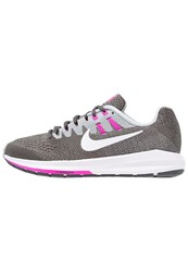 Nike Performance Air Zoom Structure 20 Stabilty Running Shoes Anthracite White Wolf Grey Fire Pink Black