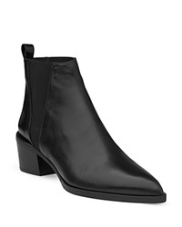 Whistles Belmont Pointed Toe Chelsea Booties Black