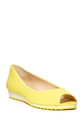 Nine West Xamine Open Toe Flat Yellow