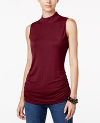 Inc International Concepts Ruched Mock Turtleneck Top Only At Macy's Port