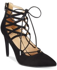 Material Girl Pronto Lace Up Pumps Only At Macy's Women's Shoes Black