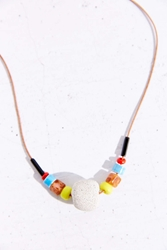 Kate Miss X Urban Renewal Lime Beaded Concrete Necklace Brown