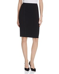 Elie Tahari Jasper Piped Pencil Skirt Black