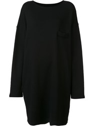 Y's Oversized Pullover Dress Black